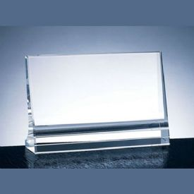 Horizontal Plaque Crystal Award