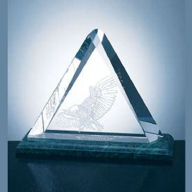 Triangle Plaque Crystal Award