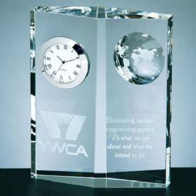 Crystal Globe Clock