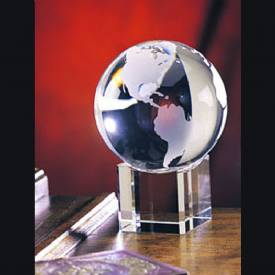 Spinning Crystal Globe Award