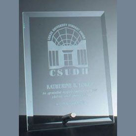 Beveled Rectangle Glass Award