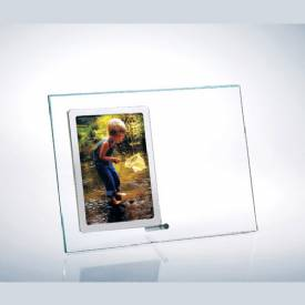 Glass Stainless Steel Photo Frame